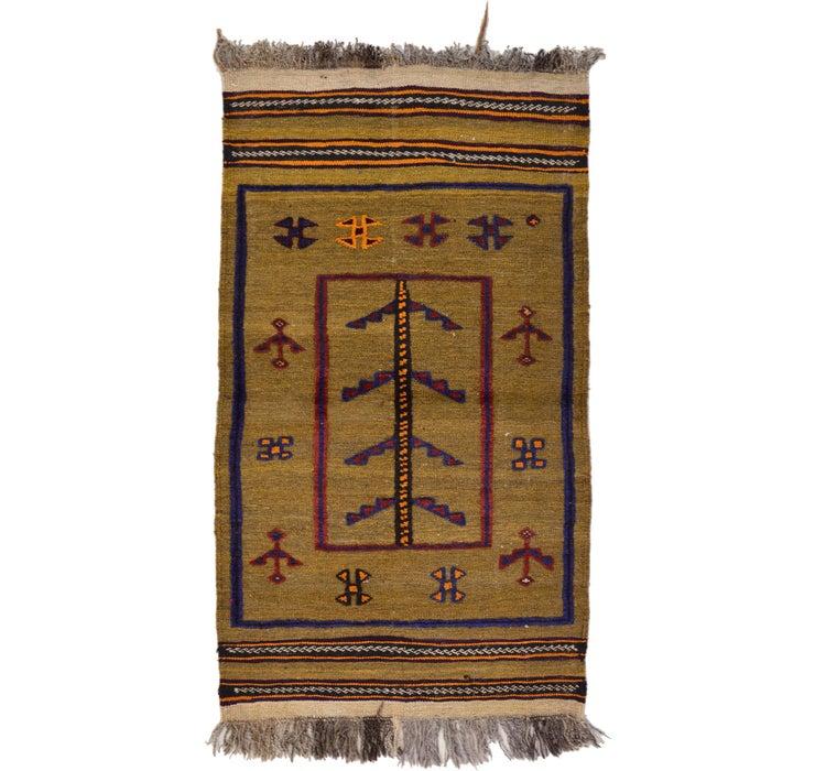 2' 4 x 4' 2 Kilim Afghan Rug
