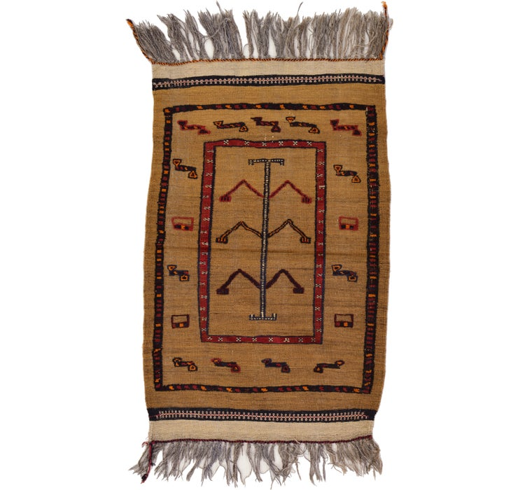 80cm x 127cm Kilim Afghan Rug