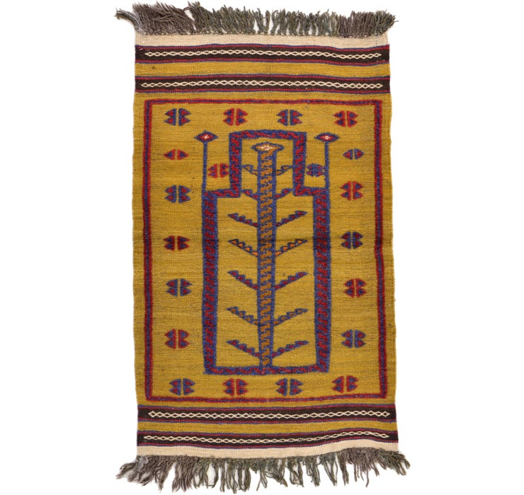 75cm x 125cm Kilim Afghan Rug