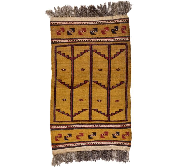 2' 5 x 4' 2 Kilim Afghan Rug