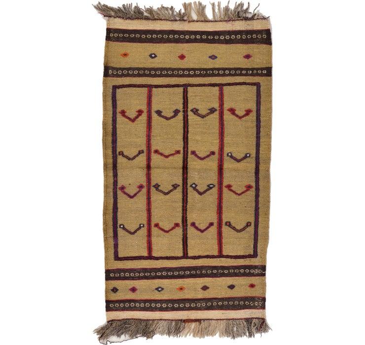 2' 7 x 4' 7 Kilim Afghan Rug