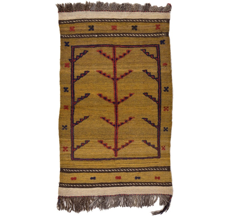 2' 4 x 3' 10 Kilim Afghan Rug