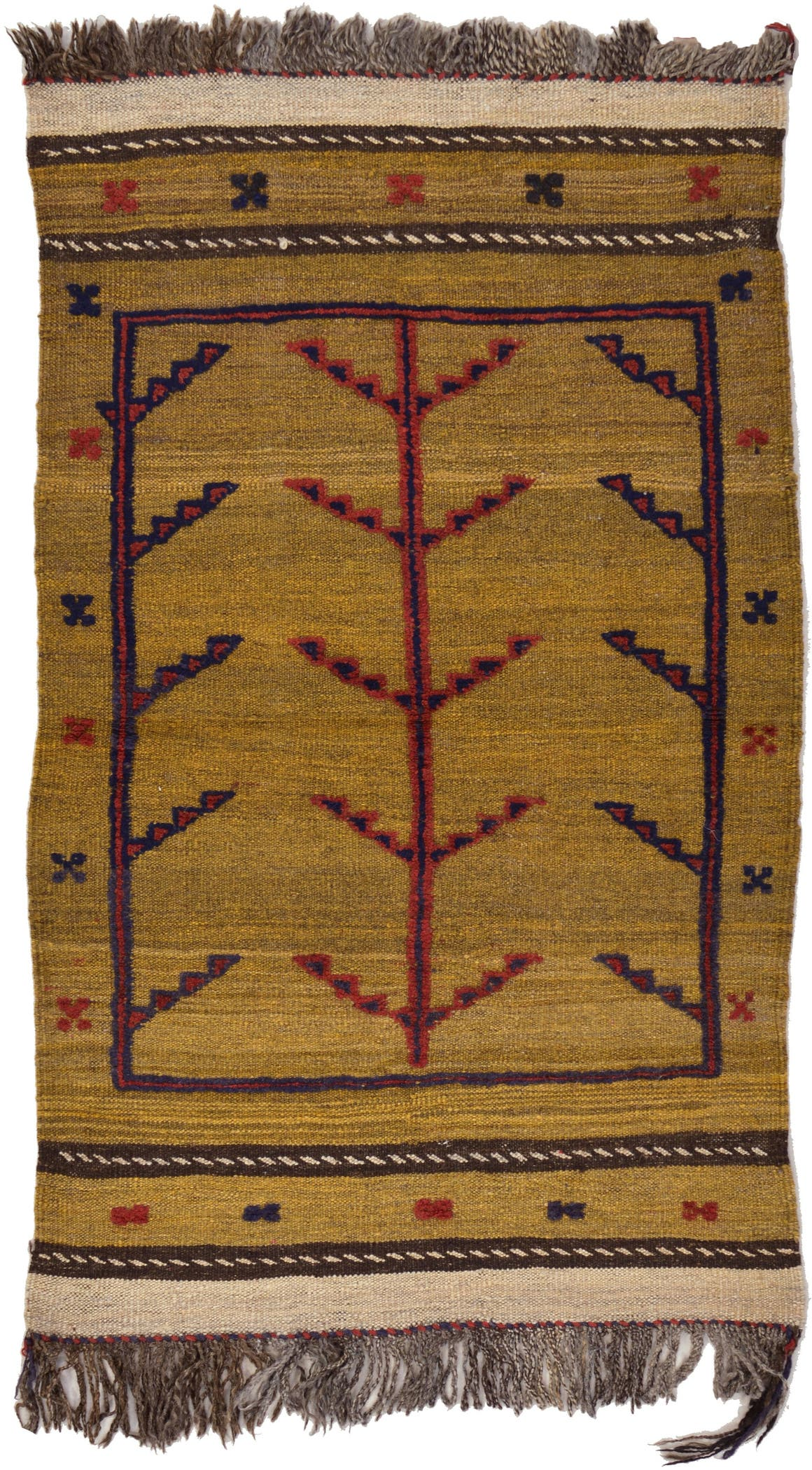 2' 4 x 3' 10 Kilim Afghan Rug main image