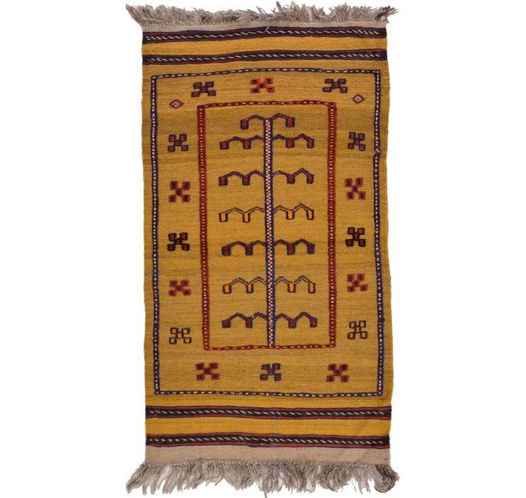 2' 4 x 4' 1 Kilim Afghan Rug