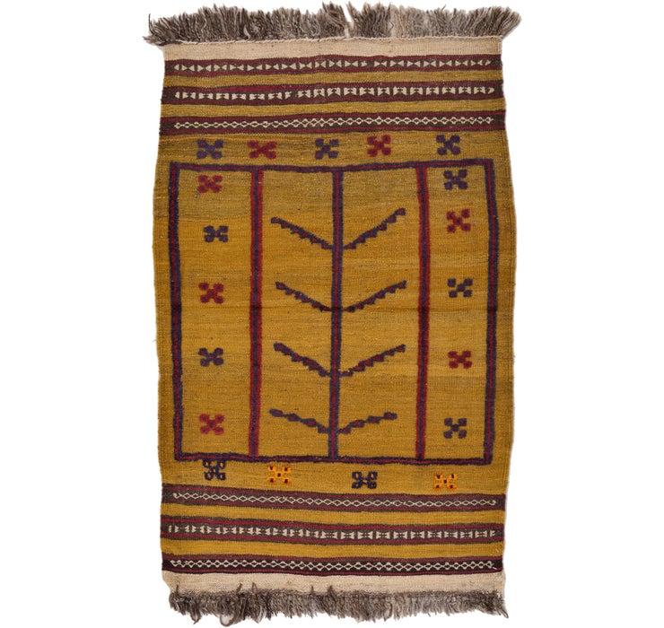 2' 8 x 4' 2 Kilim Afghan Rug