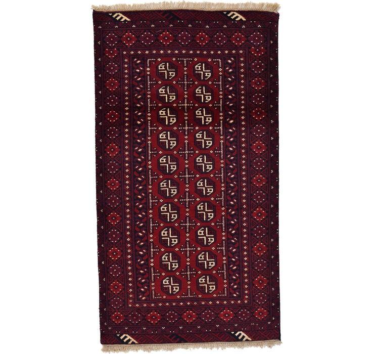 102cm x 185cm Afghan Akhche Rug