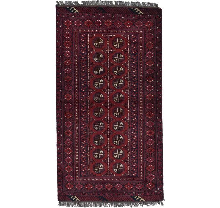 105cm x 193cm Afghan Akhche Rug