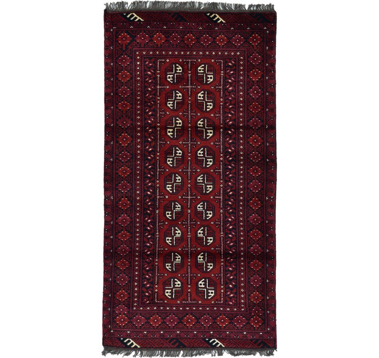 97cm x 190cm Afghan Akhche Rug
