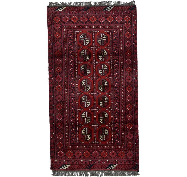 100cm x 180cm Afghan Akhche Rug