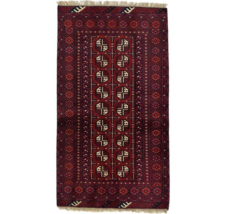 3' 4 x 6' 1 Afghan Akhche Rug
