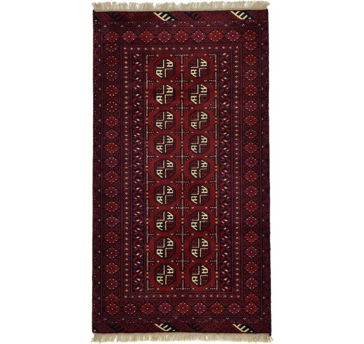 102cm x 188cm Afghan Akhche Rug
