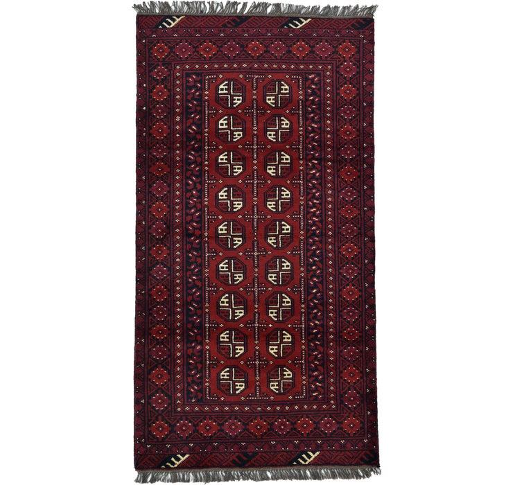 102cm x 195cm Afghan Akhche Rug