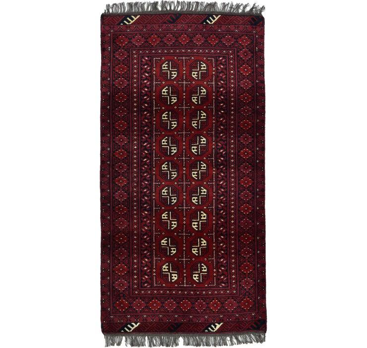 102cm x 200cm Afghan Akhche Rug