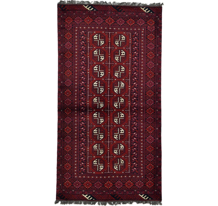102cm x 193cm Afghan Akhche Rug