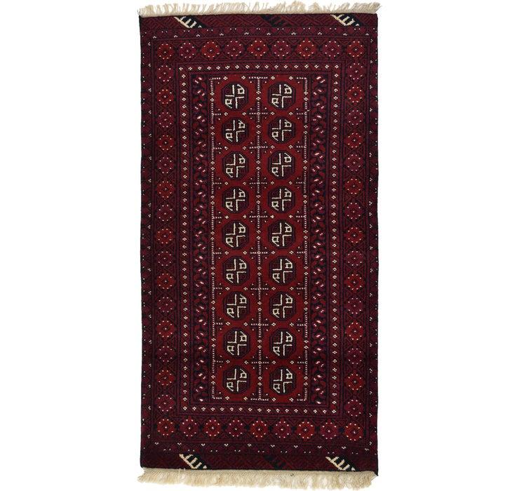 97cm x 188cm Afghan Akhche Rug