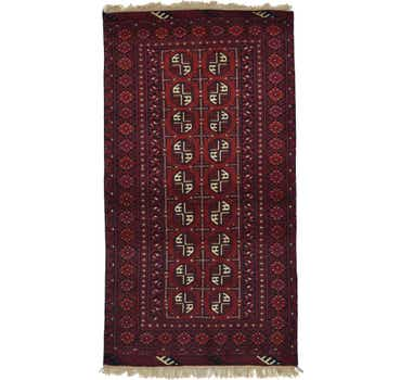 Image of 3' 4 x 6' 1 Afghan Akhche Rug