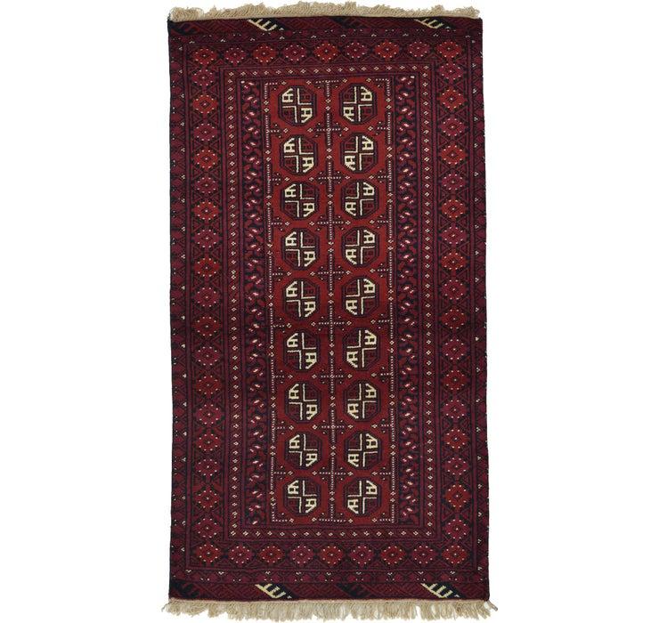 Image of 102cm x 185cm Afghan Akhche Rug
