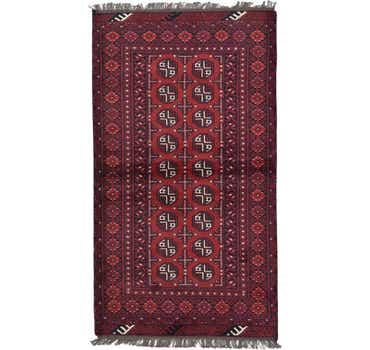 Image of 3' 5 x 6' 1 Afghan Akhche Rug