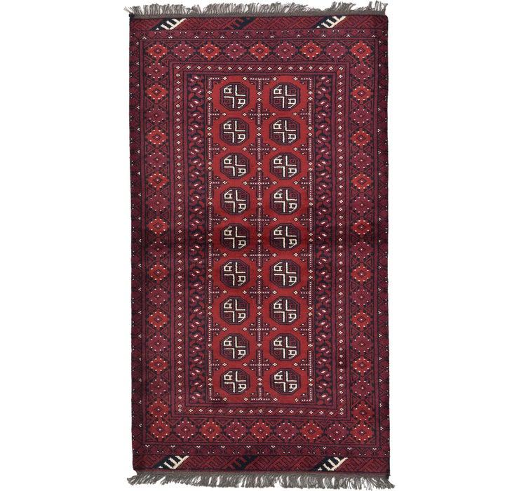 Image of 105cm x 185cm Afghan Akhche Rug