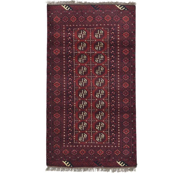 100cm x 183cm Afghan Akhche Rug