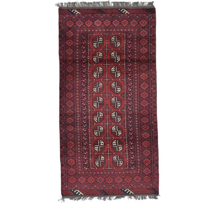 100cm x 190cm Afghan Akhche Rug