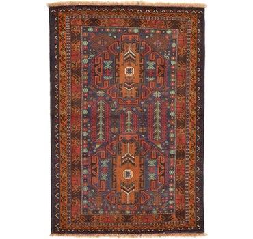 3' 4 x 5' Balouch Persian Rug main image
