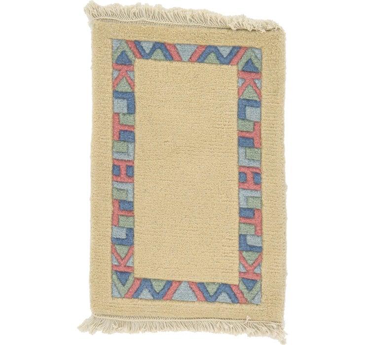 Image of 1' 4 x 1' 11 Indo Tibet Rug
