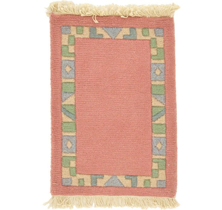 1' 4 x 1' 11 Indo Tibet Rug