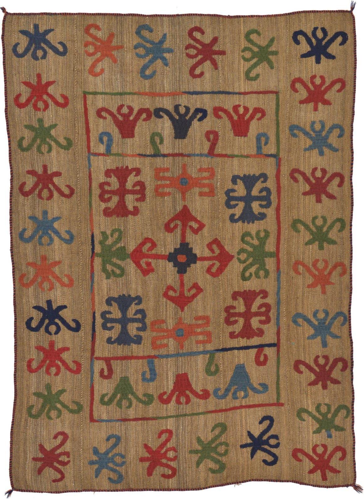 4' 9 x 6' 7 Kilim Suzani Rug main image