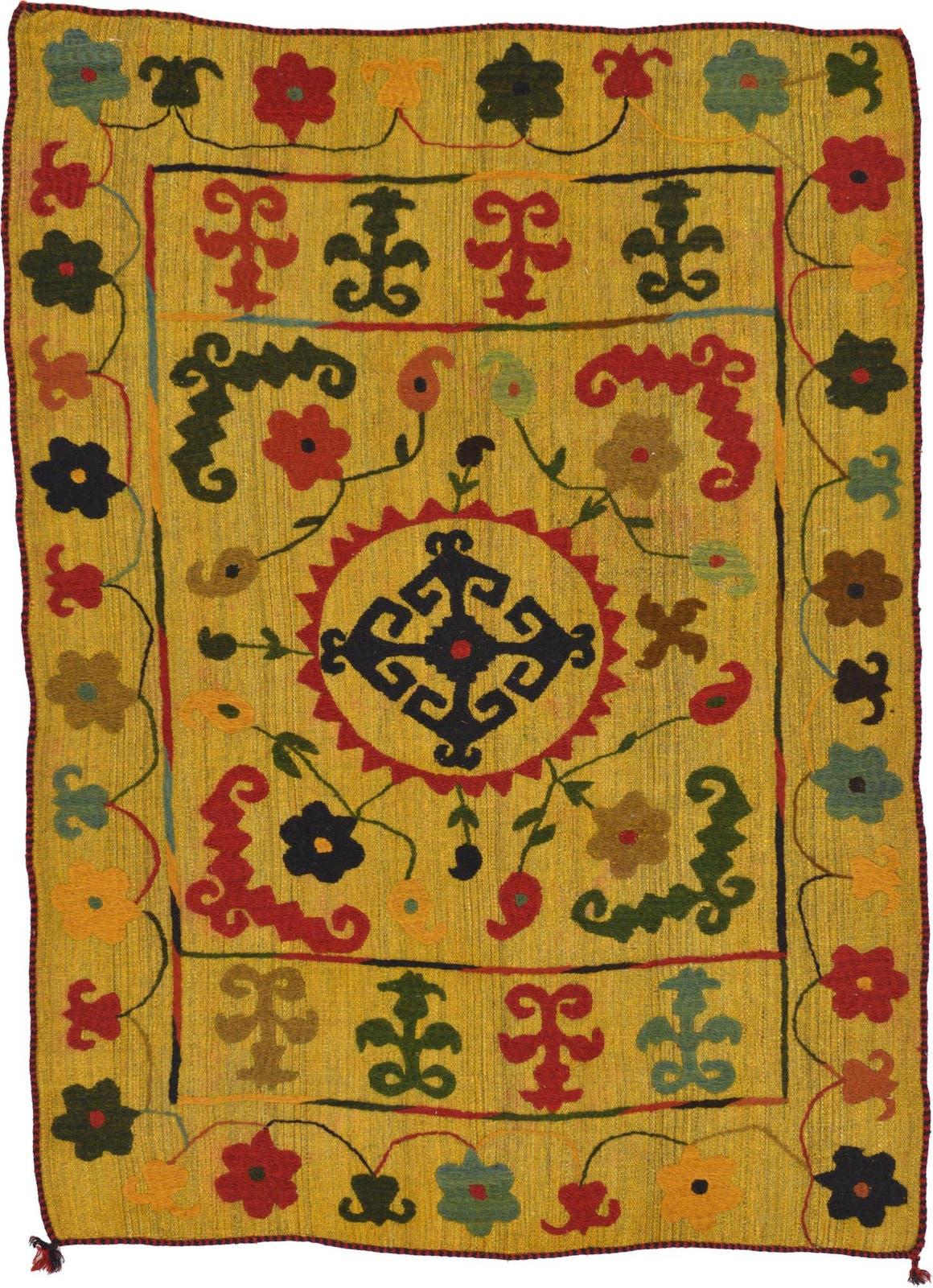 4' 7 x 6' 2 Kilim Suzani Rug main image