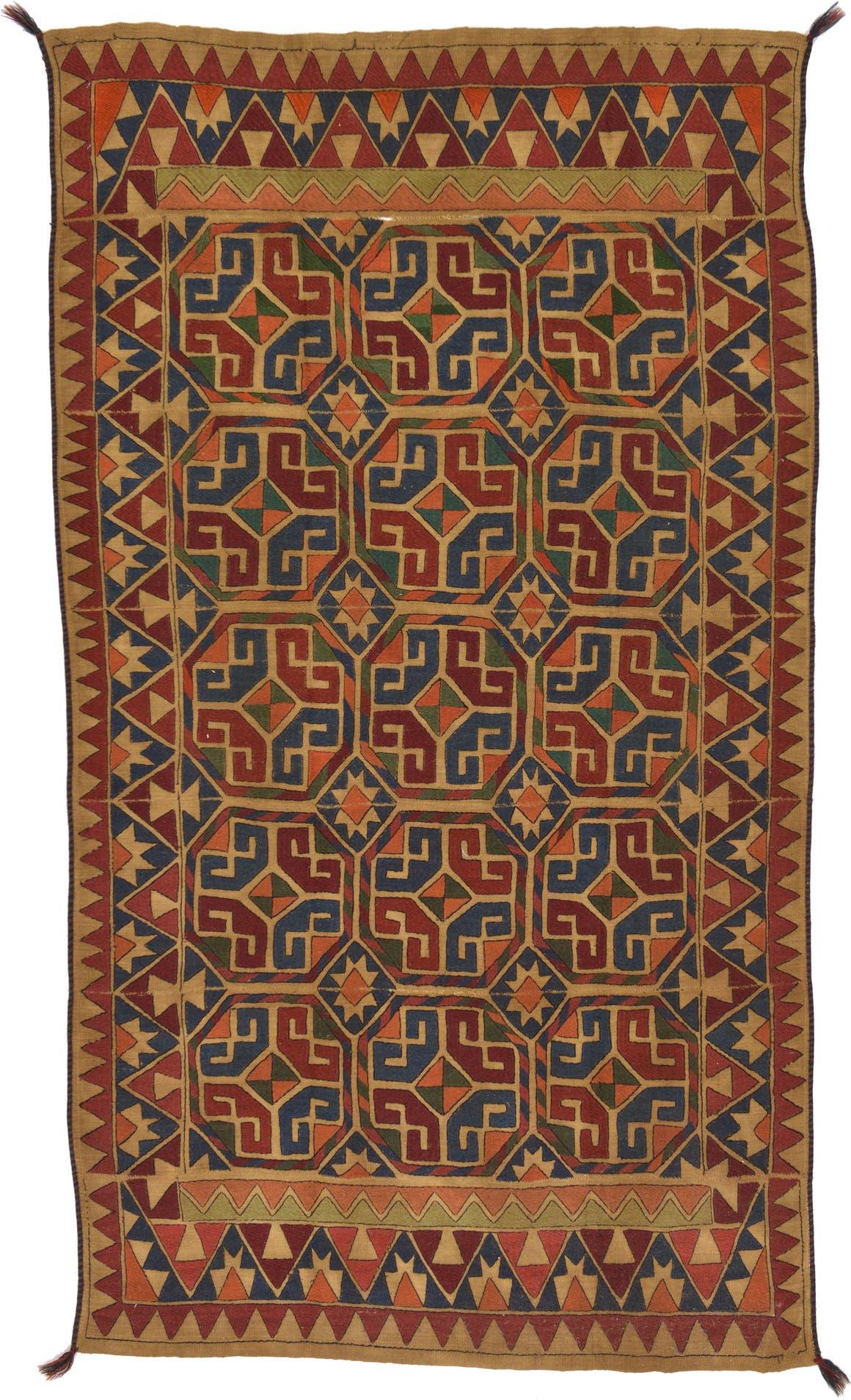 5' x 8' 6 Kilim Suzani Rug main image