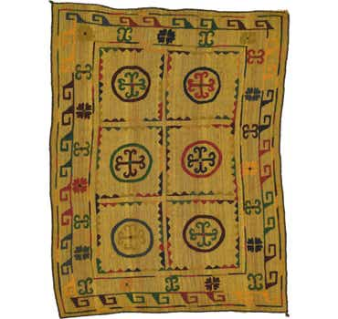 Image of  4' 5 x 6' Kilim Suzani Rug