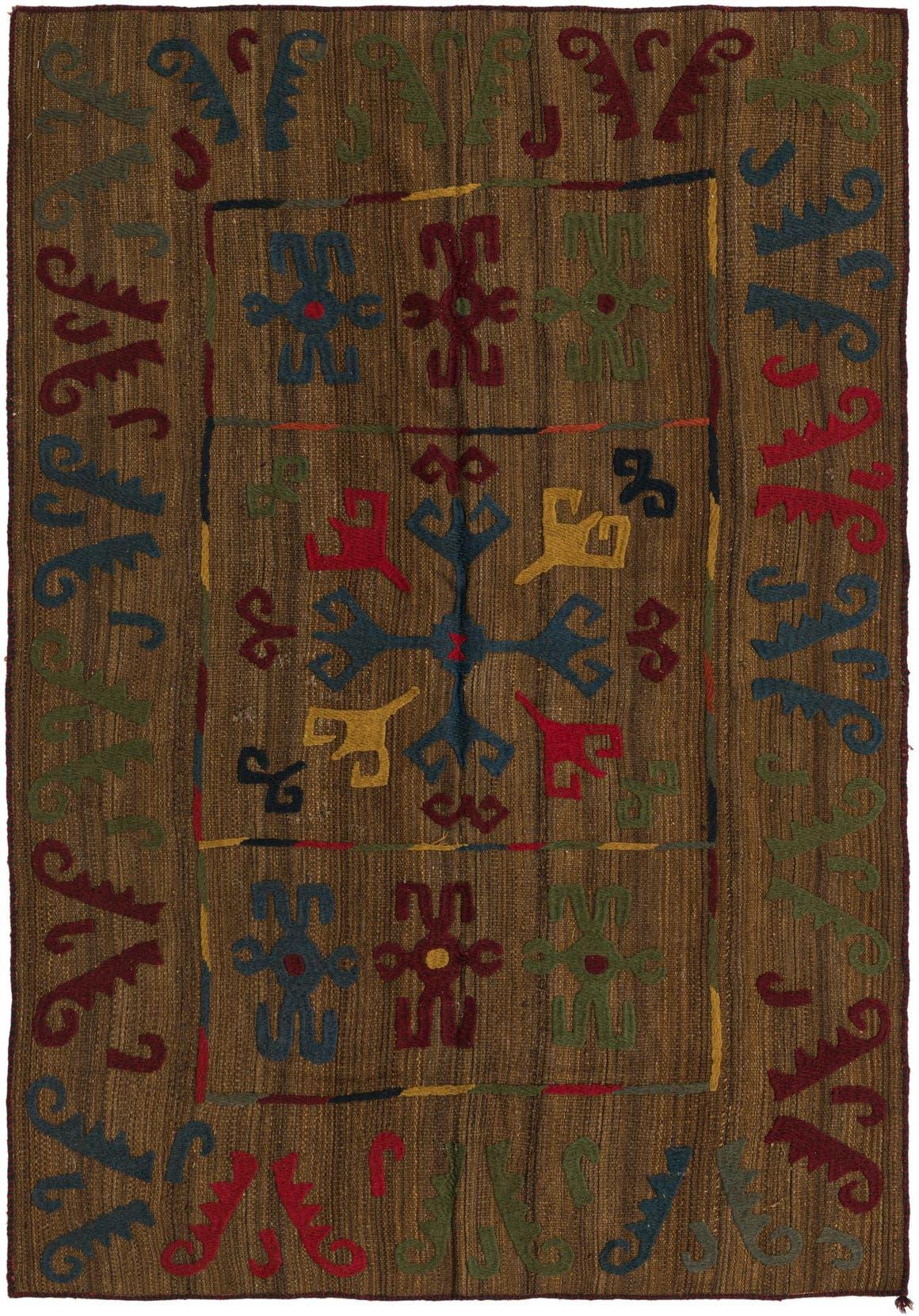 4' 8 x 6' 7 Kilim Suzani Rug main image