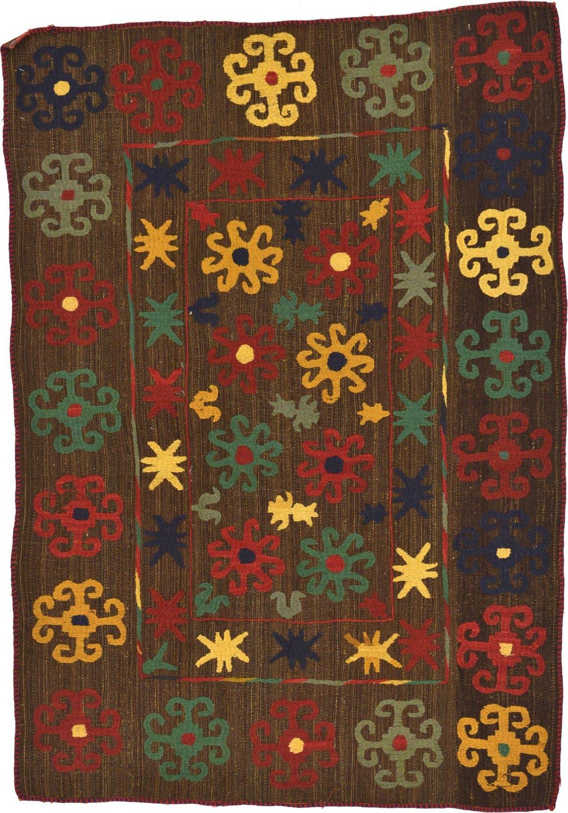 4' 8 x 6' 6 Kilim Suzani Rug main image