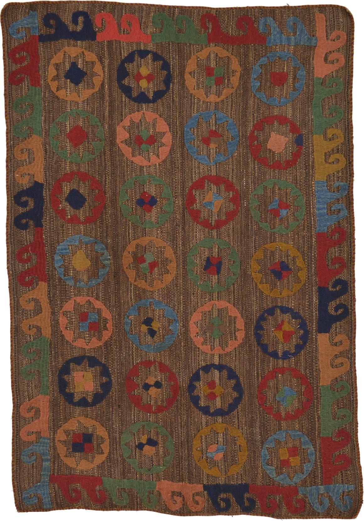 4' 9 x 7' Kilim Suzani Rug main image