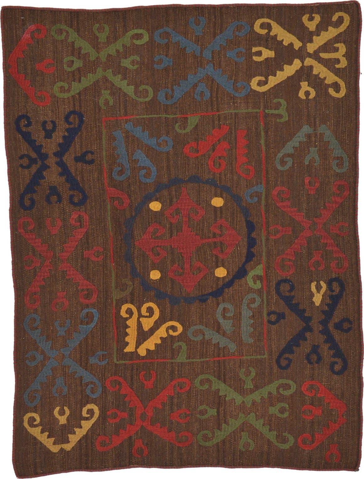 4' 10 x 6' 4 Kilim Suzani Rug main image