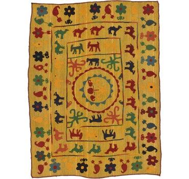 5' x 6' 7 Kilim Suzani Rug main image