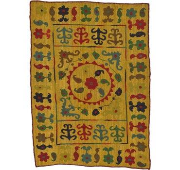 4' 8 x 6' 5 Kilim Suzani Rug main image