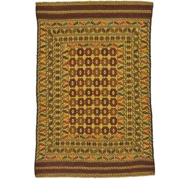 4' 2 x 6' Kilim Afghan Rug main image