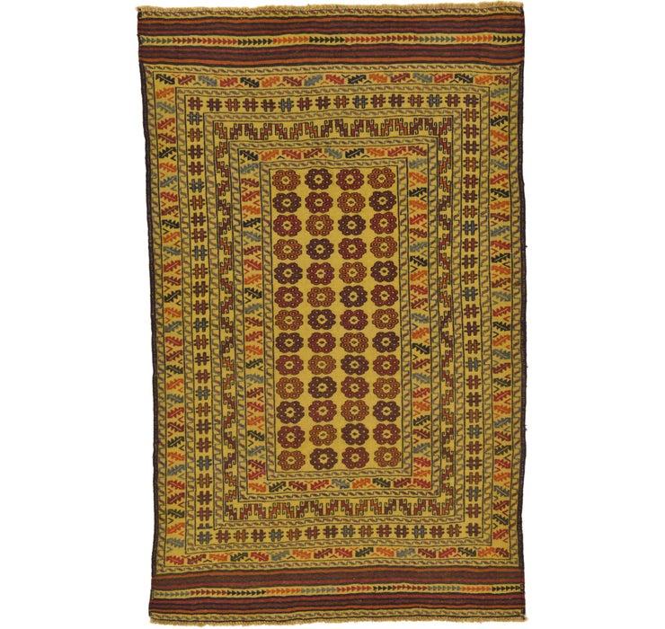 3' 10 x 6' 4 Kilim Afghan Rug
