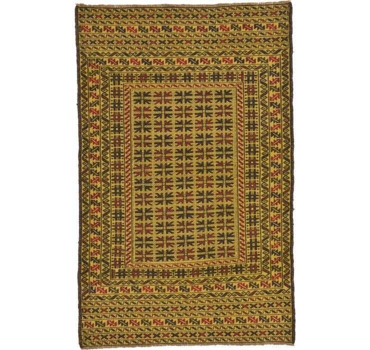 3' 10 x 6' Kilim Afghan Rug