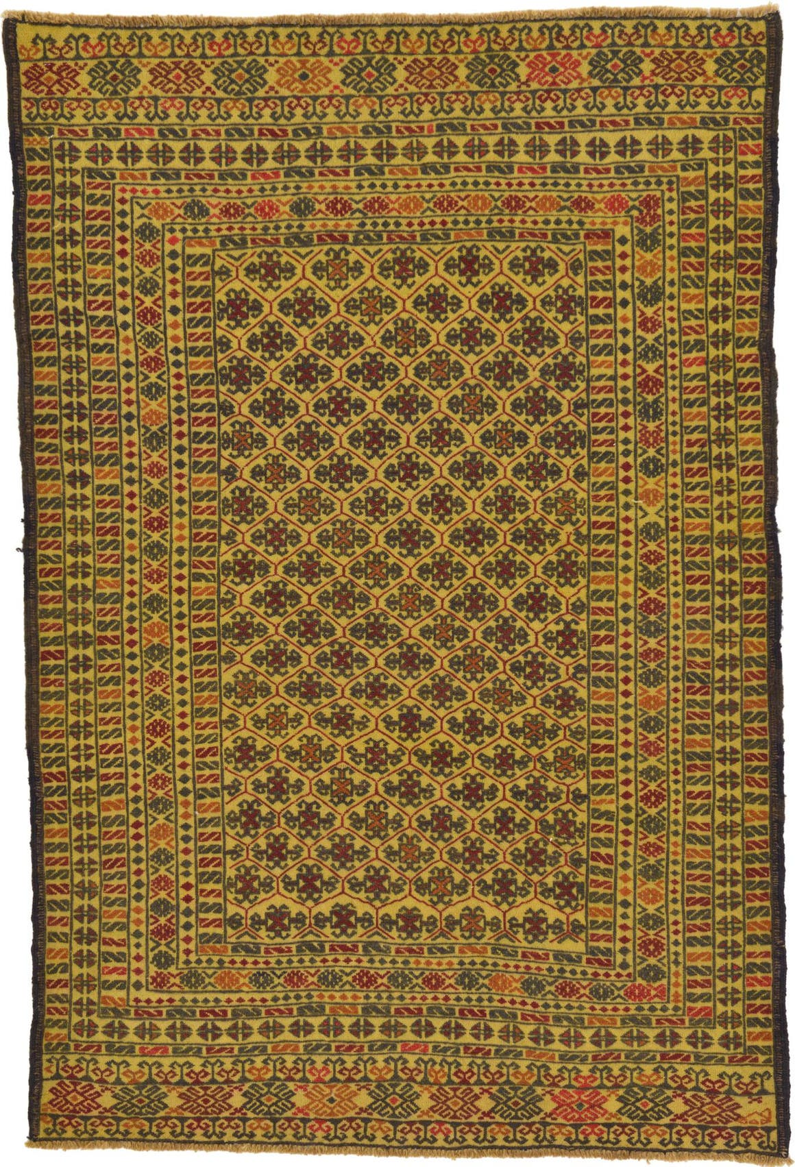 4' 3 x 6' 4 Kilim Afghan Rug main image