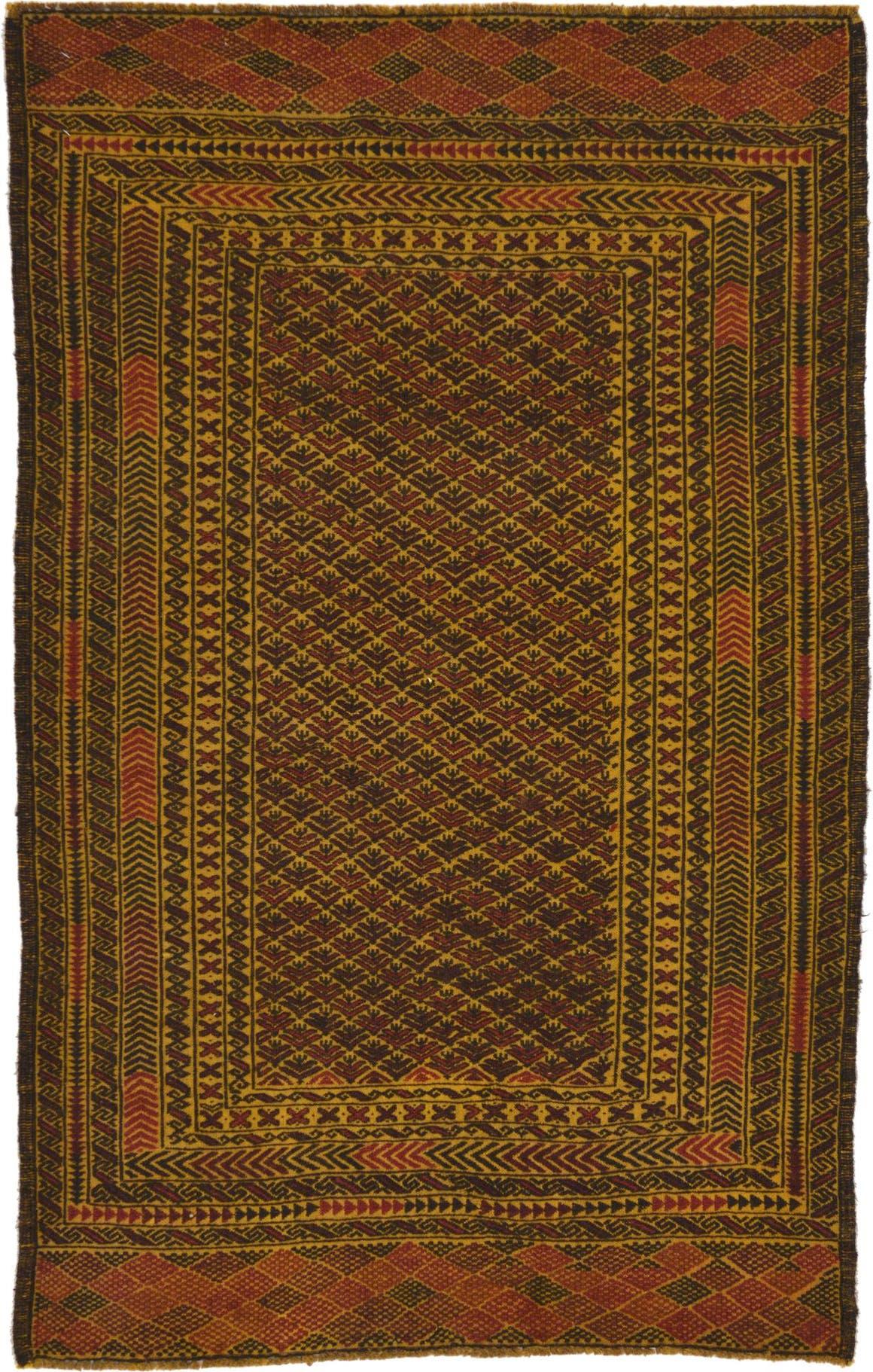 3' 10 x 6' 2 Kilim Afghan Rug main image