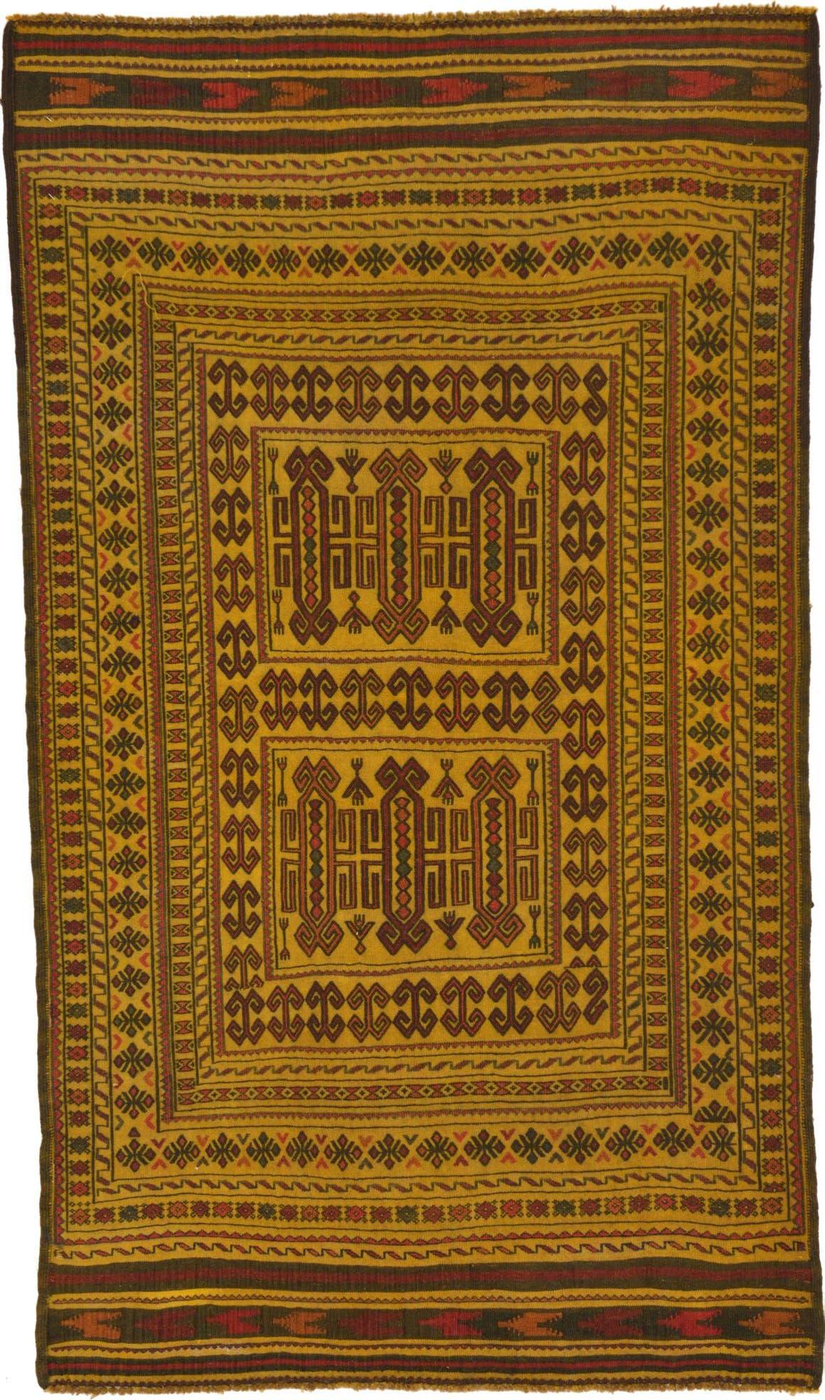 3' 9 x 6' 6 Kilim Afghan Rug main image