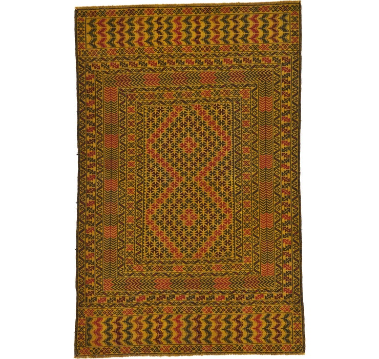 4' 2 x 6' 5 Kilim Afghan Rug