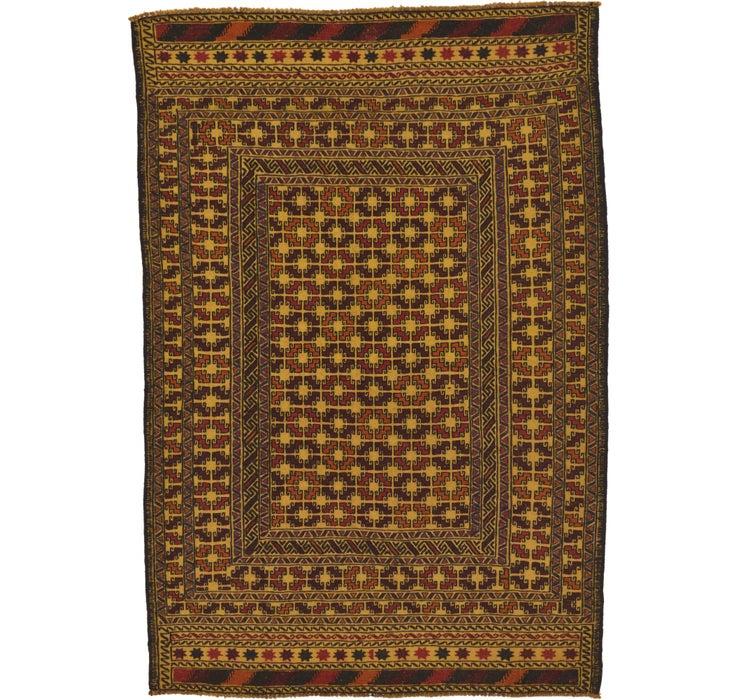 4' 5 x 6' 5 Kilim Afghan Rug