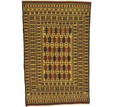 Image of 4' x 6' 5 Kilim Afghan Rug