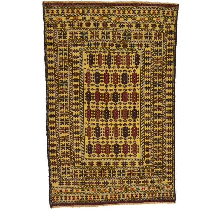 Image of 122cm x 195cm Kilim Afghan Rug