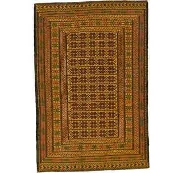 Image of 4' 4 x 6' 4 Kilim Afghan Rug