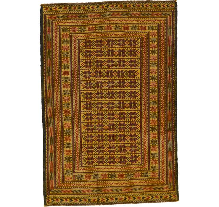 4' 4 x 6' 4 Kilim Afghan Rug